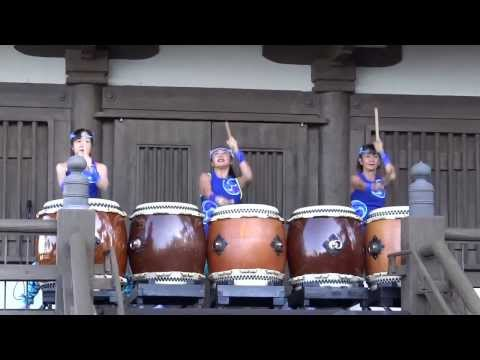 Walt Disney World - EPCOT - Japan Pavilion - Matsuriza Drummers HD (2013)