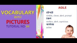 Vocabulary  with  pictures  Tutorial no-04: মজায় মজায় Vocabulary