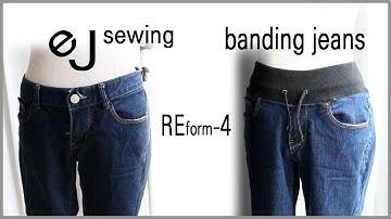 EJ (reform)Refashion DIY/리폼/밴딩 허리 만들기/디자인변경/ How to sew banding jeans/ DIY