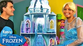 Disney Frozen Ice Castle With Queen Elsa ! || Disney Toy Reviews || Konas2002