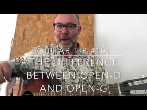 guitar tip 101: the difference between open-d and open-g.