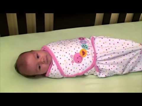 Как пеленать ребенка  С конвертами SwaddleMe от Summer Infant   легко!