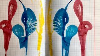 Техника рисования нитью. Как нарисовать цветок нитью. НИТКОГРАФИЯ.