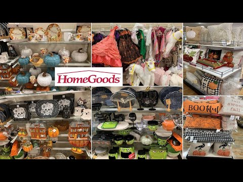 Homegoods Fall & Halloween Decorations| Kitchen Decor Pillows Kids Costume| Shop With Me August 2019