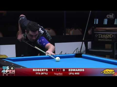 2016 US Open 8-Ball: Josh Roberts vs Matt Edwards