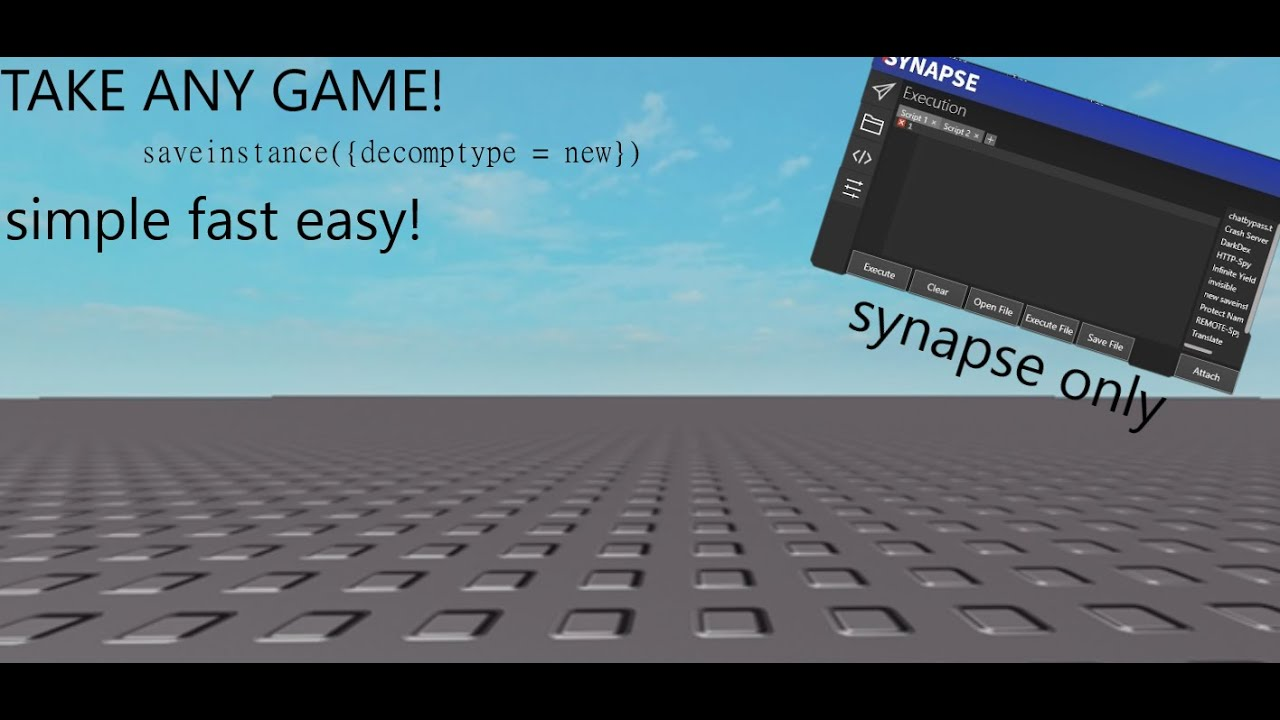 HOW TO USE SCRIPTS IN ROBLOX GAMES ! HOW TO CHEAT ON ...