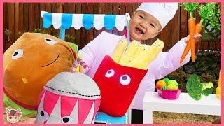 kids pretend play with kitchen toy for children 콩순이 마트 가면 햄버거 감자 커진다? 국민이 요리놀이 주방놀이 장난감 뽀로로 짜장면 모음