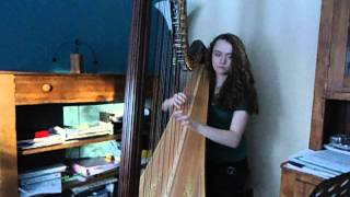 She's Leaving Home by the Beatles - harp cover by Brooke Knoll