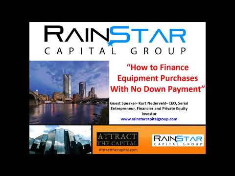 How to Finance Equipment with No DownPayment
