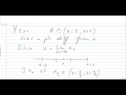 Cantor-Bendixson Derivative