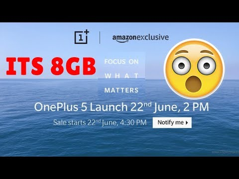Thumbnail: Oneplus 5 is Expensive 8GB RAM finally confirmed for Oneplus 5 Sale starts on June 22