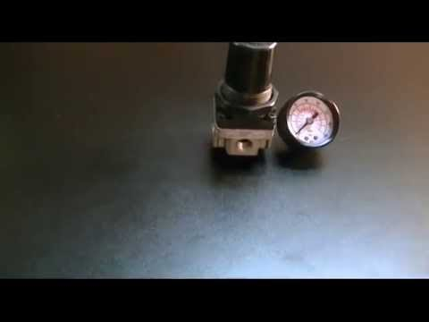 "harbor freight - central pneumatic ¼"" mini air regulator with gauge ..."