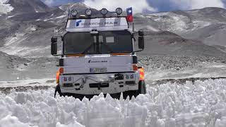Rheinmetall High Altitude Truck Expedition – Folge 6: HX-Truck durchfährt Büßereisfeld