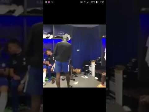 Antonio Rudiger chelsea defender dancing African wizkid audio in the player's room..