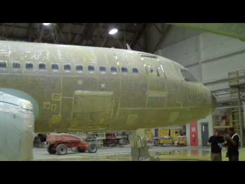 Aviation paint stripper video