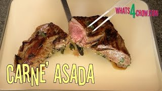 Carne' Asada - Mexican Marinated Beef Grilled To Perfection By Whats4chow