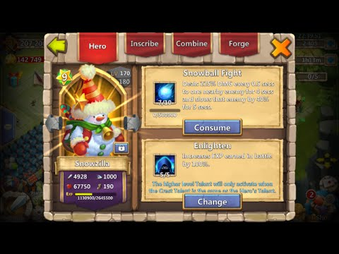 Castle Clash Snowzilla Evolved Lucky Flipping 12 Cards