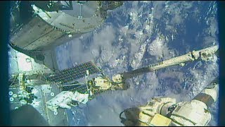 Space Station Crew Completes a Trio of October Spacewalks