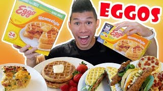 EGGO WAFFLE Recipes for Breakfast Lunch + Dinner || Life After College: Ep. 574