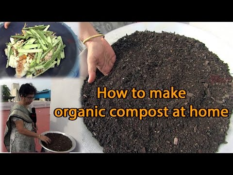 How to make organic compost fertilizer at home