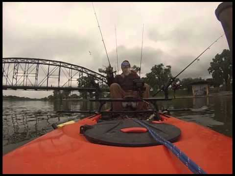 Kayak Fishing Brazos River Downtown Waco April 11, 2015 in Feelfree Lure 11.5