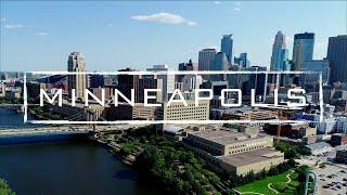 Minneapolis, Minnesota   4K Drone Footage
