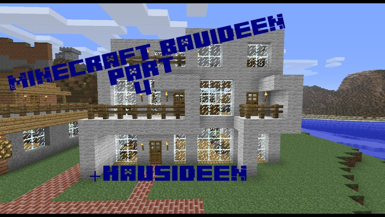 Minecraft Bauideen part 4 + Hausideen - YouTube
