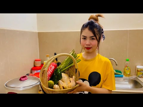 Cambodian food | Cooking chicken with Coca - Cola Khmer food for dinner in Phnom Penh 2021
