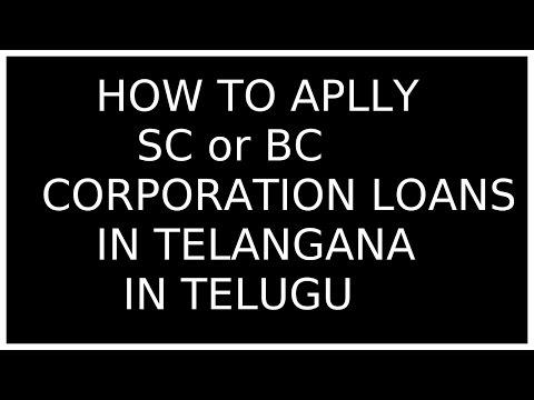 How To Apply Sc Or Bc Corporation Loans In Telangana 2017 - StaMp3