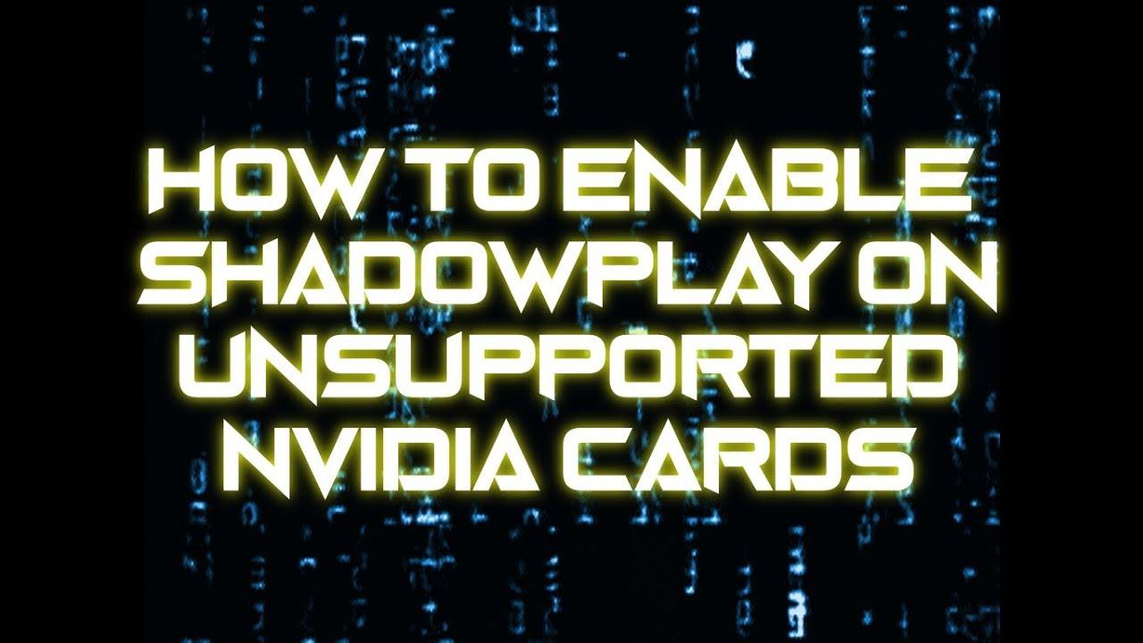 enable shadowplay nvidia