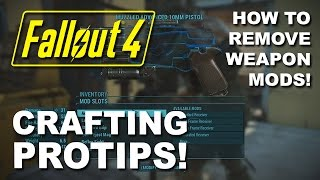 FALLOUT 4: Weapon Modding PROTIP - How to Take Mods Off a Weapon & Move them to Another (Armor Too!)