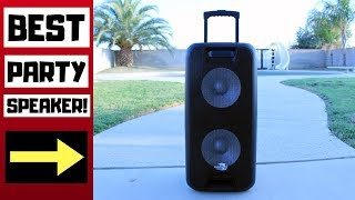 Best Party Speaker - Dolphin Dual 10 Inch Rechargeable Bluetooth Speaker Review! (SP-210RBT)
