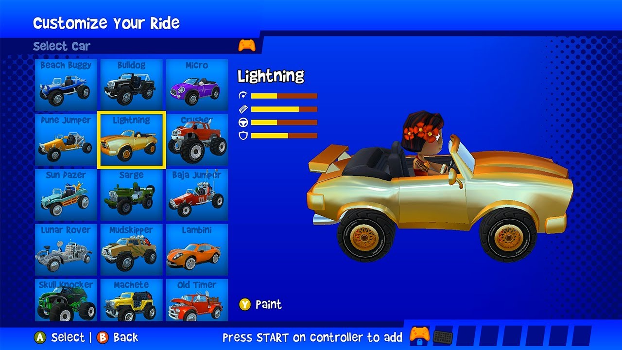 Beach Buggy Racing 2 PC | New Gold Paint For Lightning! |Hot and Cup Championship 1000HP