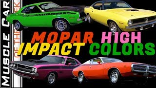 Mopar High Impact Colors of 1970 - Muscle Car Of The Week Video Episode 337