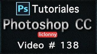 Tutorial Photoshop CC (Español) # 138.¿Cómo Crear un Logotipo o marca de agua?. liclonny