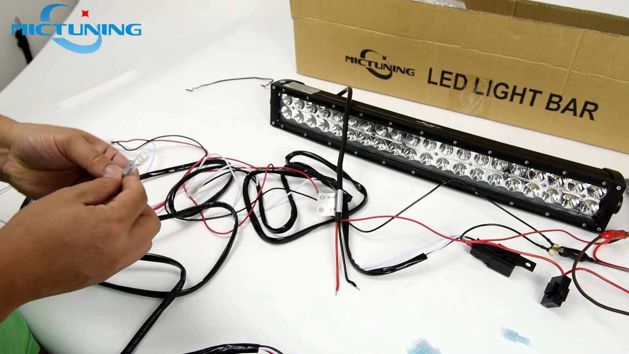 wiring harness connect to the light & bar led light bar installation -  youtube