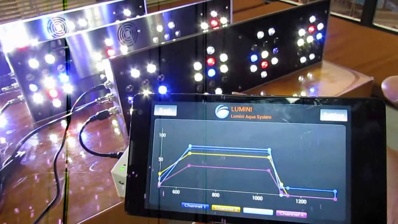 How to wifi control lumini aquarium lights by your smart phone