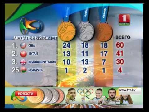 Медальный зачет Олимпиады в #Рио2016 14.08.2016