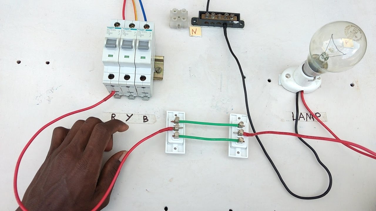 two way switch connection type 1 electrical videos in tamil two way switch wiring diagram [ 1280 x 720 Pixel ]
