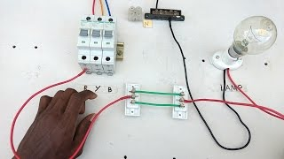 two way switch connection type 1 - Electrical videos in  tamil ,two way switch wiring diagram