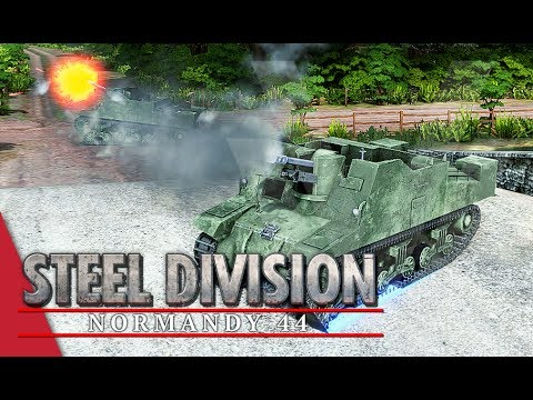 Canadian Creeping Barrage! Steel Division: Normandy 44 Gameplay #58 (Merderet, 3v3)