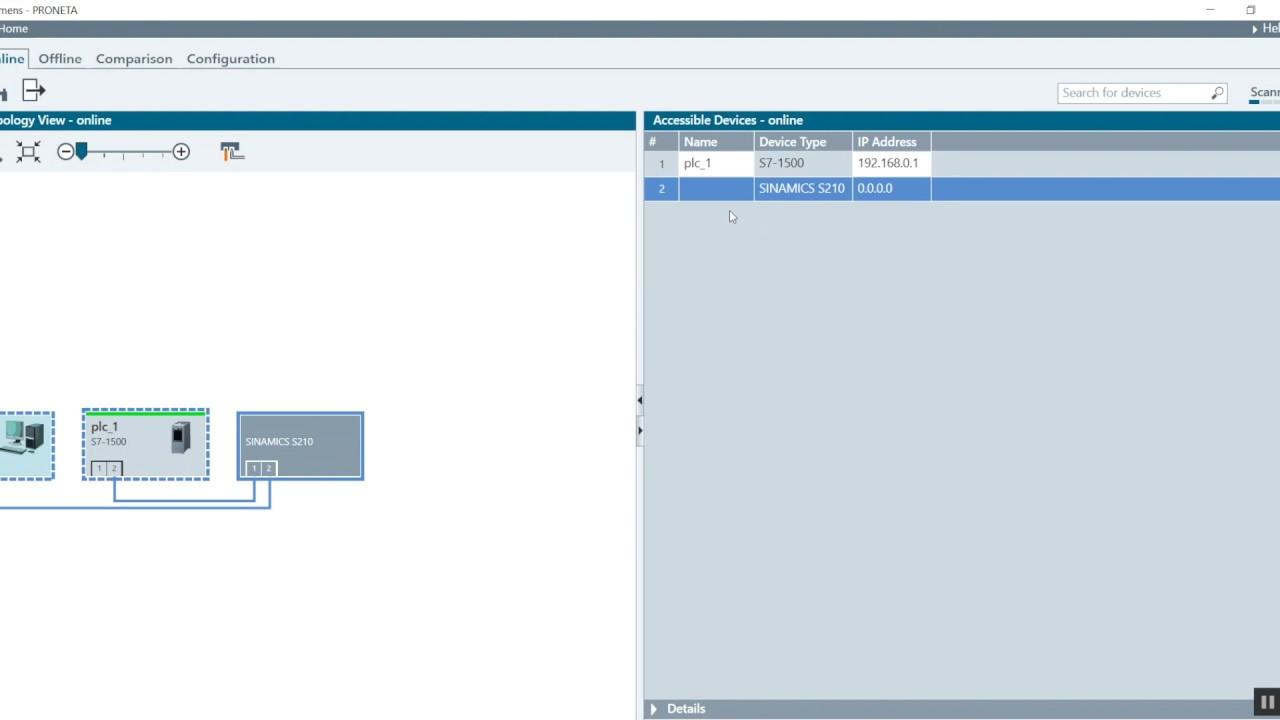Commission your Siemens S210 servo drive using StartDrive in TIA Portal  v15 1