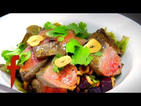 Gordon Ramsay Cooks A Pigeon Salad With A Hazelnut Vinaigrette