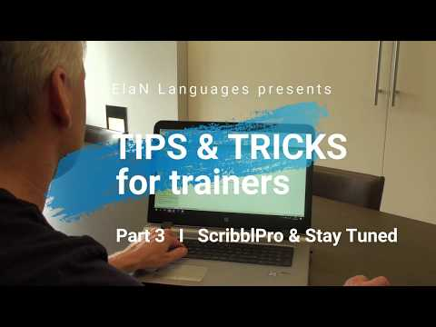 Tips & tricks for trainers, #3