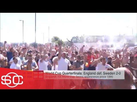 Taylor Twellman: England fans celebrate as...