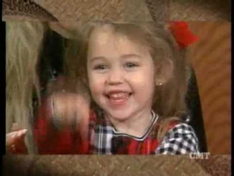 Little Miley Cyrus Waving (age 2,3)