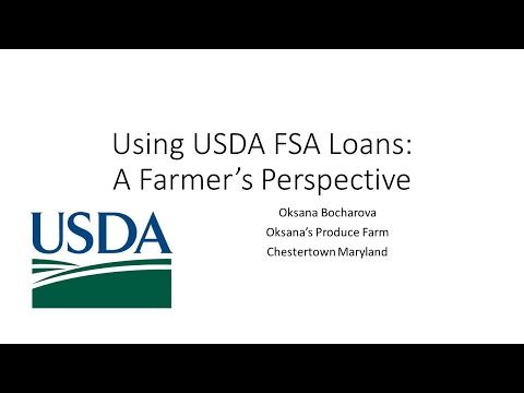 Using USDA FSA Loans: A Farmer