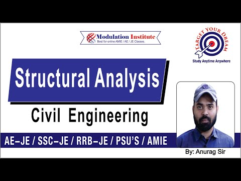 Structure Analysis Civil Engg Lecture by Anurag Sir for SSC JE / AE / AMIE Sec B