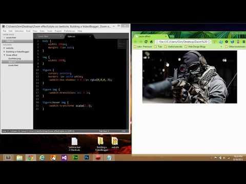 HTML5 image zoom effect