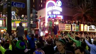 SuperKrewe of Endymion + Tucks Mardi Gras parade in New Orleans 2013